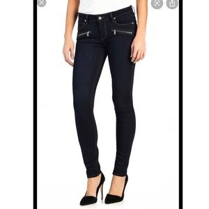 PAIGE Skinny Jeans with Zippers! Size 28